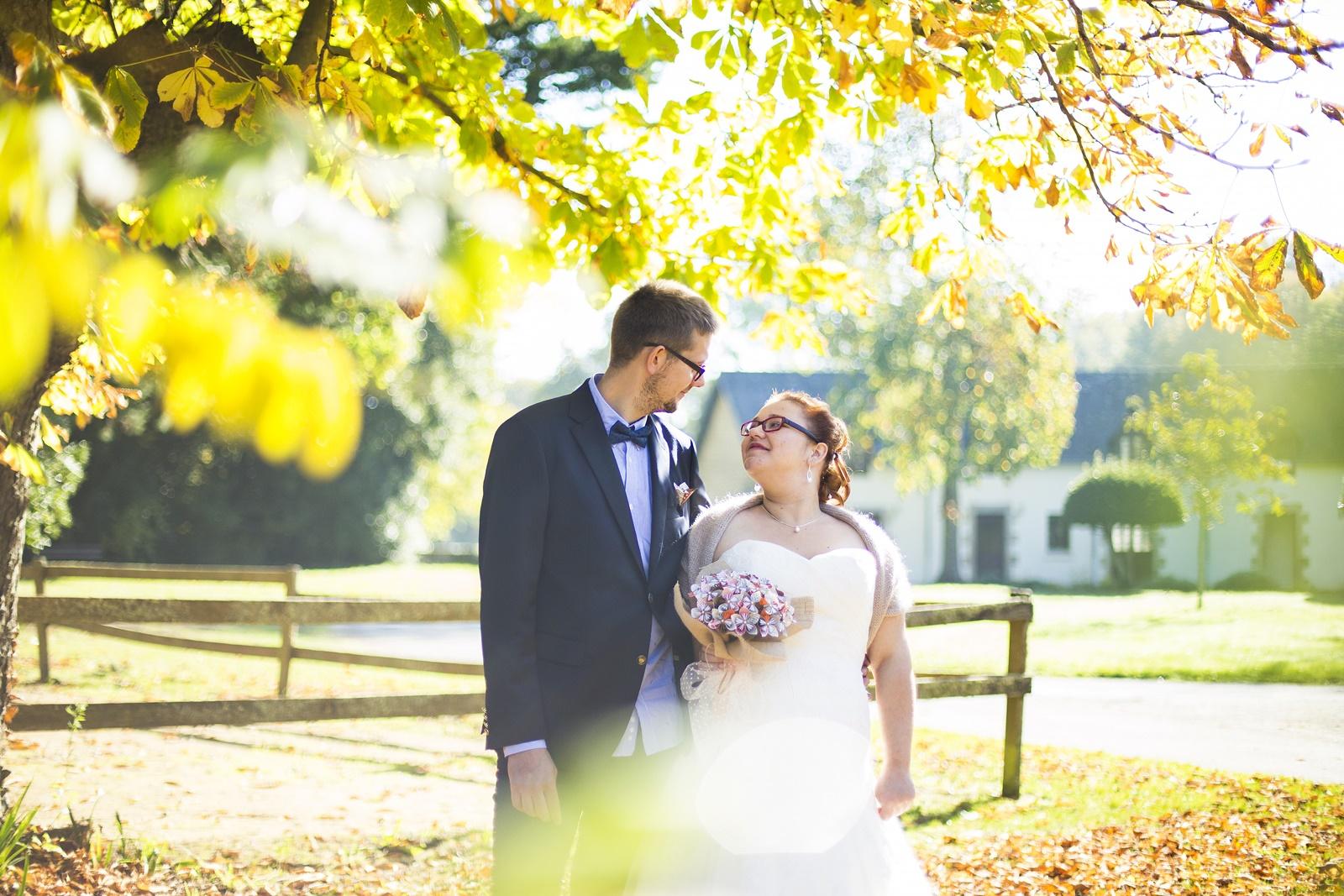 couple mariage mariés automne morbihan séance couple